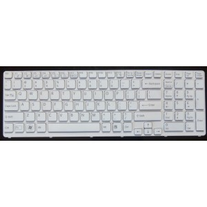 Laptop Keyboard for Sony Vaio SVE15 (White) No-backlit